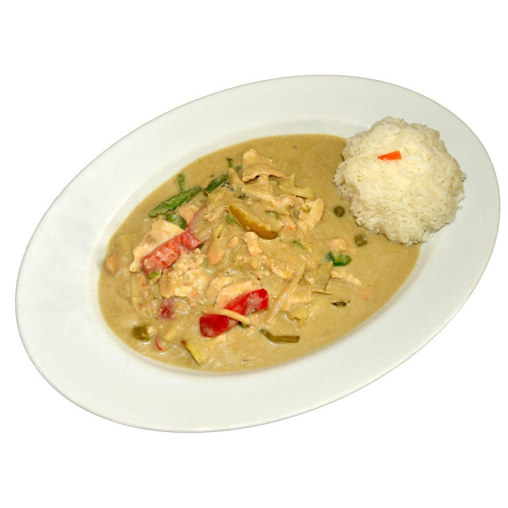 Grüner Curry scharf