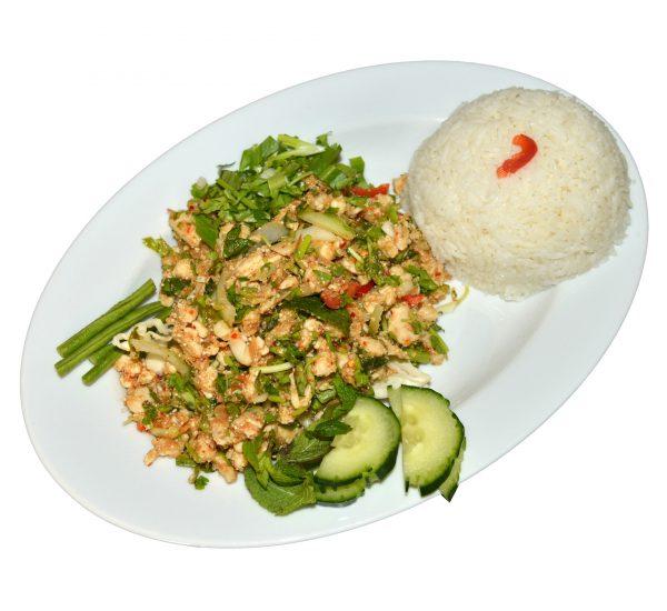 Fleischgericht mit Reis