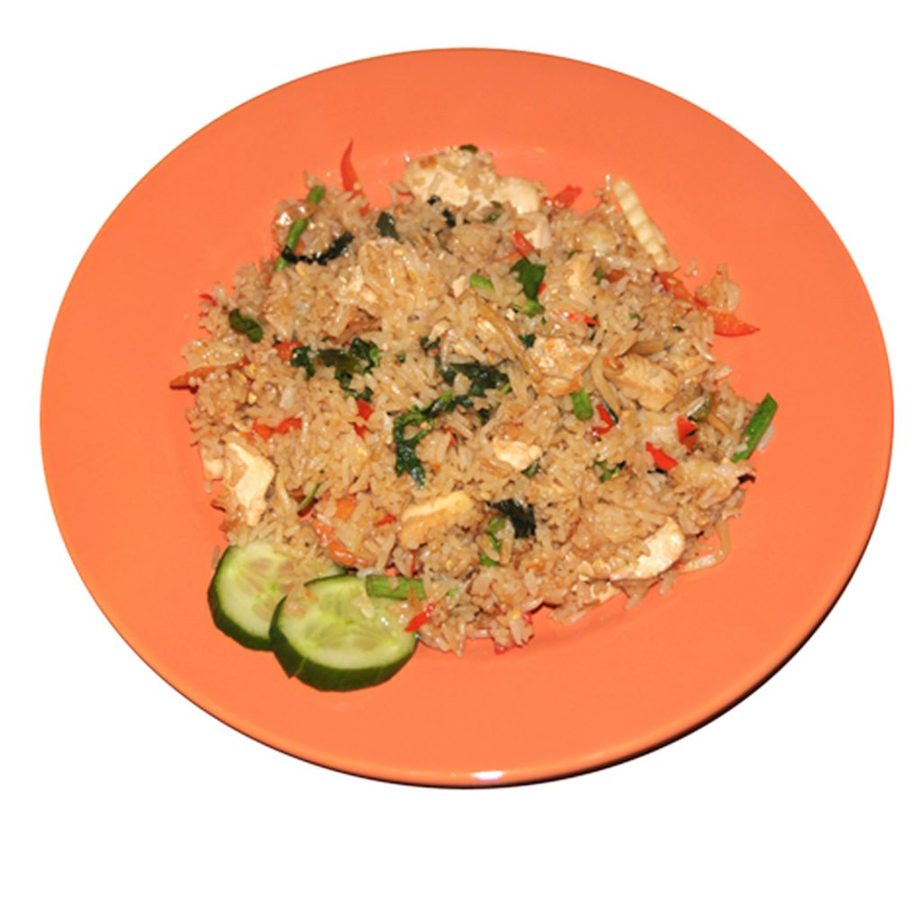 Gebratener Reis mit Basilikum