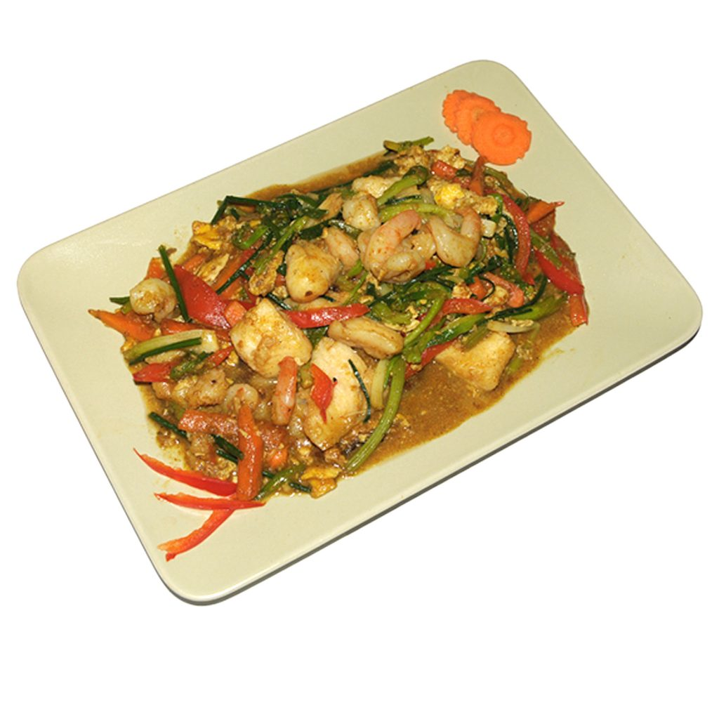 Fischfilet an gelber Currysauce