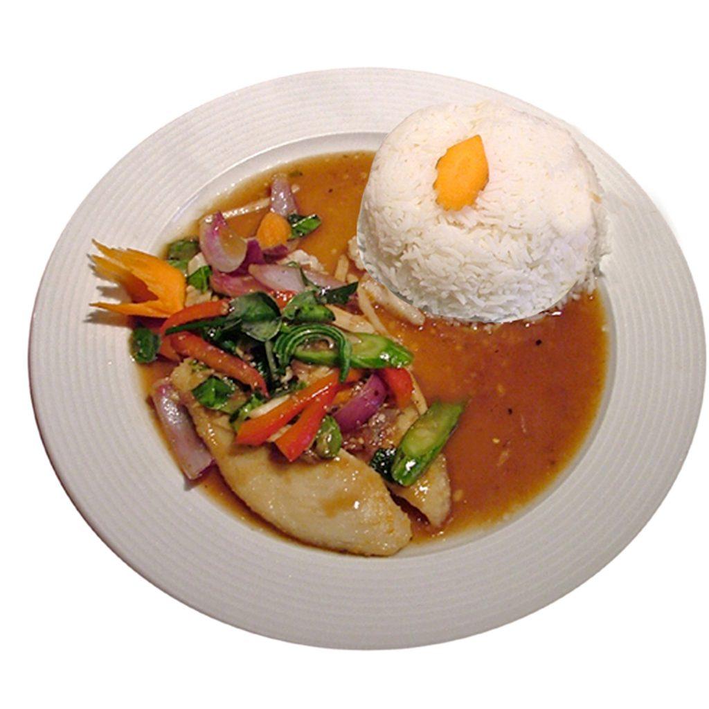 Pangasiusfilet mit Reis