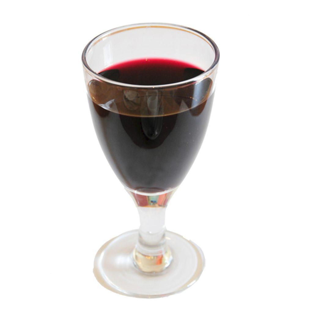 Ein Glas Rot- oder Weisswein