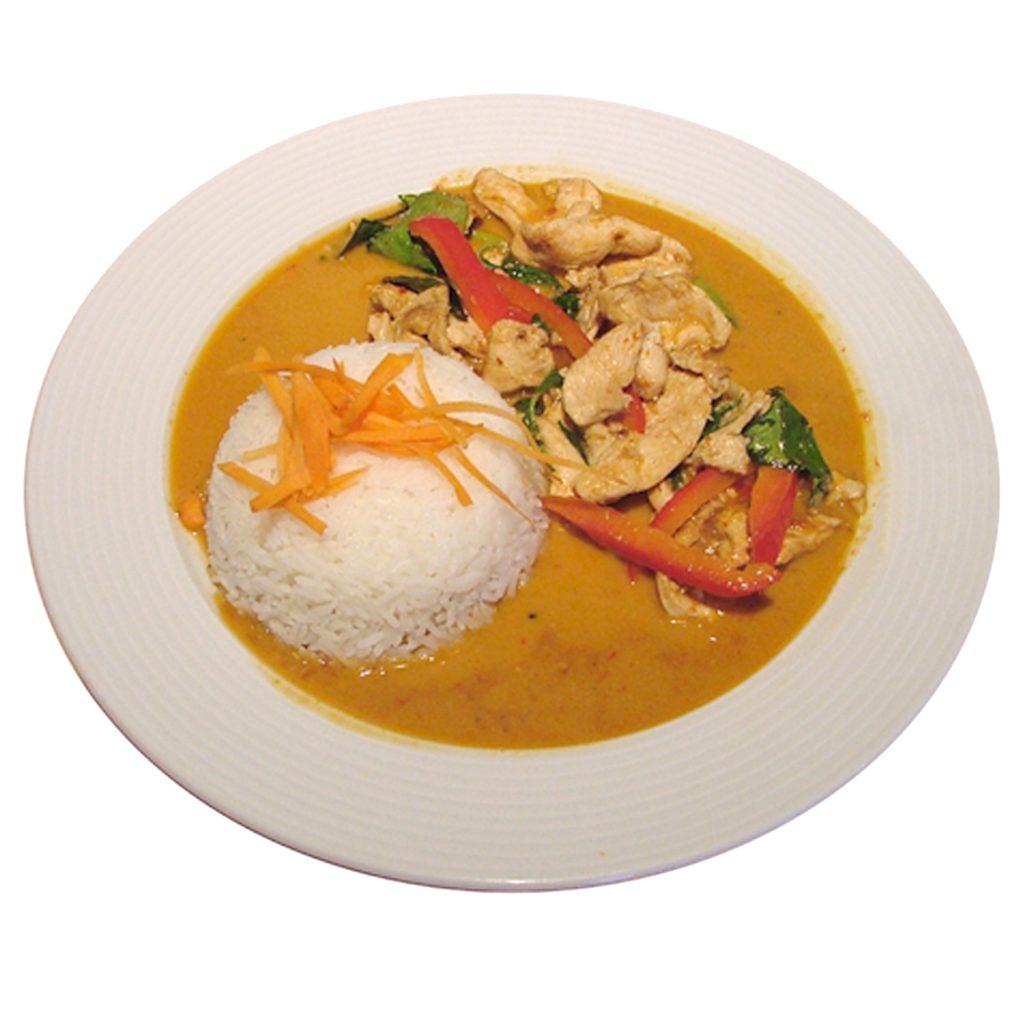 Erdnusscurry mit Reis